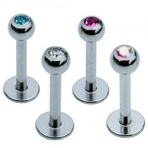 Set of Four Tragus Studs - Jewelled