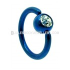 Jewelled Titanium BCR - Dark Blue