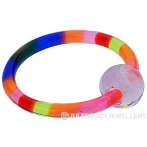 Rainbow Acrylic Ball Closure Ring