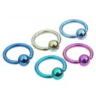 Titanium Ball Closure Rings