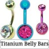 Titanium Belly Bars