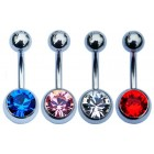 Set of 4 Belly Bars - Single Jewelled