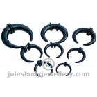Ear Stretching Crescents - Black Set 1.6mm - 8mm