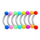 Set of 8 Bright Piercing Bars