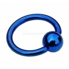 Titanium Ball Closure Ring BCR - Dark Blue