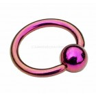 Titanium Ball Closure Ring BCR - Pink
