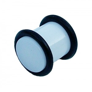 Acrylic Ear Stretching Plug - White